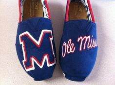 Ole Miss TOMS by DesignsByMicahInc on Etsy, $94.00