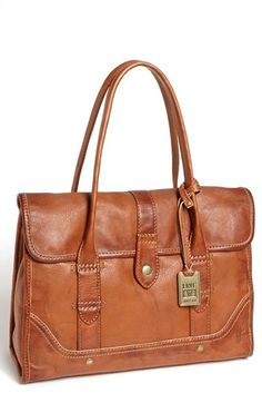 $388, Brown Leather Satchel Bag: Frye Campus Satchel Saddle. Sold by Nordstrom. Click for more info: https://lookastic.com/women/shop_items/96318/redirect