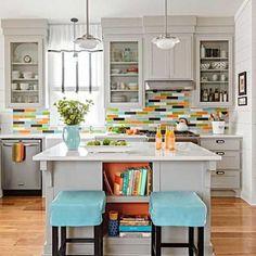 39 Best Colorful Kitchen Backsplashes Images Tile Decorating