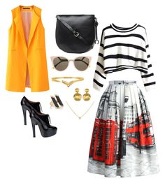 London streets by nomiicapri on Polyvore featuring polyvore, fashion, style, Chicnova Fashion, Chicwish, Alaïa, Oroton, Marco Bicego, Maiyet and Fendi Classic Fashion Looks, Classic Looks, Marco Bicego, London Street, Pattern Mixing, Out Of Style, Get The Look, Polyvore Fashion, Fendi