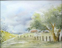 """""""Boddenlandschaft"""" (24 x 32 cm)"""