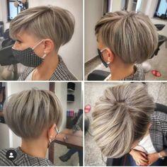 Undercut Hairstyles Women, Short Hair Undercut, Short Bob Hairstyles, Short Hair Cuts For Women, Short Hair Styles, Hair Color For Black Hair, Pixie Haircut, Hair Today, Fine Hair