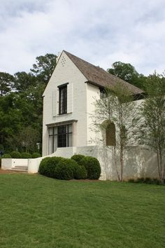 exterior: modern classic white   bham