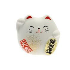 Kotobuki Maneki Neko Charm Kenkoh-un Collectible Figurine, Good... (90 SEK) ❤ liked on Polyvore featuring home, home decor, fillers, white figurines, kotobuki, maneki neko figurine, white home decor and white home accessories