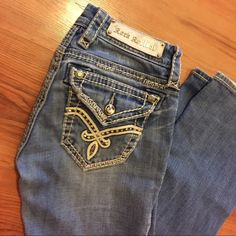 Rock revival jeans These Rock revival jeans are in great condition. They have been work a couple of times but are still in good condition they are boot cut and Jill style. They are 31.5 long. Rock Revival Jeans Boot Cut