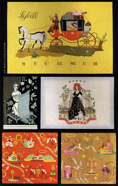 From my vintage magazine collection, Hungarian wrapping paper designs.