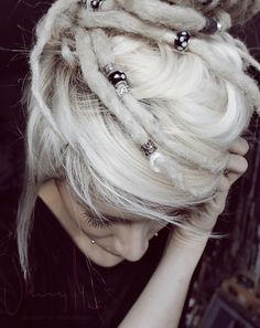Love the look of white dreads
