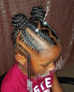 Black Kids Braids Hairstyles, Little Girls Natural Hairstyles, Cute Toddler Hairstyles, Lil Girl Hairstyles, Cute Braided Hairstyles, Hairstyles 2018, Little Girl Braid Styles, Kid Braid Styles, Little Girl Braids