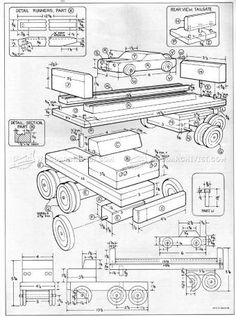 #2554 Wooden Toy Car Carrier Plans - Wooden Toy Plans