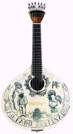 Decorated Fado Guitar --- https://www.pinterest.com/lardyfatboy/