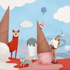 A paper world styleframe I created for @target kids at Gentleman Scholar! Great fun imagining how paper would fold and mimicking it in photoshop.. I feel the urge to start a crafty project! #illustrator #paper #art #icecream #cute #papercraft #paperart #design #illustratorsoninstagram #designer #illustration #art #motion #frame #kids #children