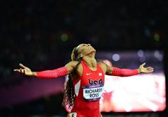 Sanya Richards-Ross wins Gold medal in Women's 400m in Track and Field.