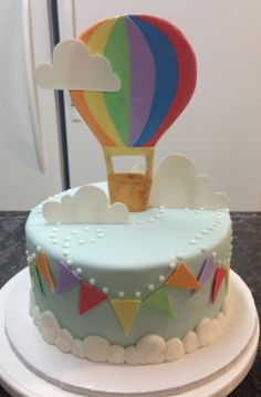 Hot Air Balloon themed cake