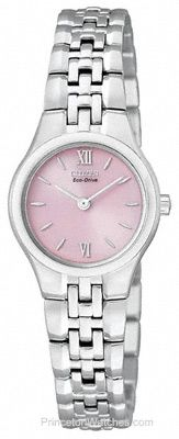 Citizen Ladies Eco-Drive Dress Watch - Stainless Steel - Pink Dial