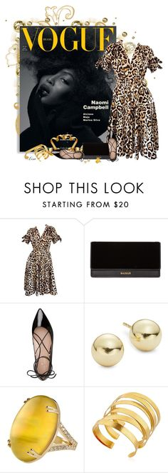 """""""Animal Magnetism"""" by lmm2nd ❤ liked on Polyvore featuring Naomi Campbell, John Galliano, Balmain, Kate Spade, Lord & Taylor and Hervé Van Der Straeten"""