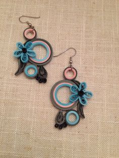 Hey, I found this really awesome Etsy listing at https://www.etsy.com/uk/listing/264209490/paper-earrings-blue-gray-chandelier