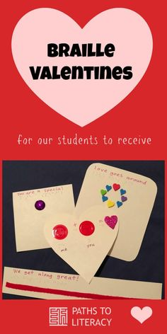 Support Sighted Classmates In Making Accessible Tactile Valentines With Braille For Children Inclusive Classrooms Who