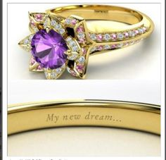 Dream Wedding On Pinterest Disney Engagement Rings Disney Princess Rings A