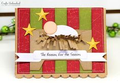 DIY Christmas Card tutorial- the manger is made from an envelope. Adorable!