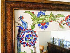 emeklilik hobileri: çinilerim-20 Jacobean Embroidery, Turkish Tiles, Mirror Tiles, Border Design, Tile Art, Cross Stitch Patterns, Porcelain, Frame, Painting