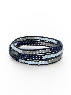 Chan Luu Tri-Color Stone Wrap Bracelet