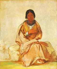Native Americans: Chee-a-ex-e-co, Daughter of Deer without a Heart by George Catlin 1796-1872