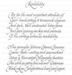 Your Handwriting Quality? - Calligraphy Discussions - The Fountain Pen Network
