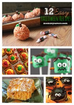 12 Easy Halloween Recipes for Parties that are especially great for kids. Super cute-- but quick and easy as well!