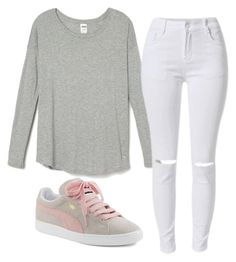 """Untitled #182"" by layyyyyyyy ❤ liked on Polyvore featuring Puma, women's clothing, women, female, woman, misses and juniors"