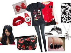 """""""Mickey and Minnie Mouse outfit"""" by jae429 on Polyvore"""