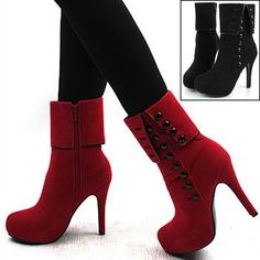Hot Sexy Women Platform Pumps Stiletto High Heels Ankle Boots Shoes | eBay