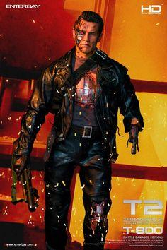 [ENTERBAY] Terminator 2: T-800 Battle Damaged