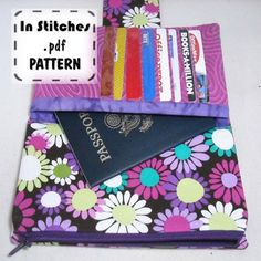 I might just have to download this pattern for 8 bucks and make it out of a lovely orange or lime green material.  Hold It All Shopper PDF Pattern DIY Wallet Clutch Instructions