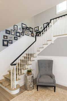 Entry Hall & Staircase: New England Architecture, New England style, Colonial, Cape Cod, traditional, classic, beach architecture, beach style, beach organic, natural wood flooring, painted wood windows, beadboard wainscoting, wood stair case, wood railing & stairs, painted baluster, handrail and stained step threads, recessed can lights.