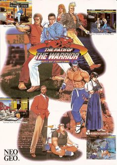 Emularoms: Art of Fighting 3 - The Path of the Warrior ( Arca. Make A Flyer, Archive Video, Art Of Fighting, Neo Geo, Graphic Design Trends, Video Game Art, Arcade, Disney Characters, Fictional Characters