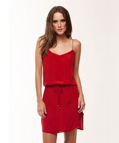 SOLID RED DANI SHORT DRESS in the curated section for the Desert Flower Foundation #ViXPHermanny