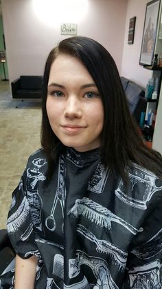 This Beautiful young lady got her Hair colored correction today at Salon C