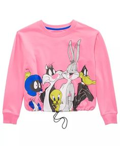 Looney Tunes Big Girls Drawstring Shirt & Reviews - Shirts & Tees - Kids - Macy's