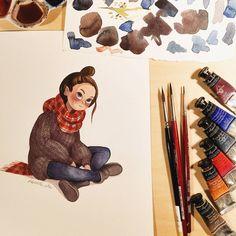 Ira Sluyterman van Langeweyde в Instagram: «Finished piece of my wip before . . #illustration #art #watercolor #watercolorpainting #characterdesign #illustrator #illustratorsofinstagram #artistsofinstagram #artist»