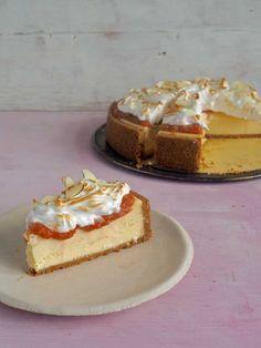 New York Cheesecake raparperilla ja marenkihunnulla - Himahella Cheesecake, Chorizo, New York, Baking, Desserts, Food, Pai, Tailgate Desserts, New York City