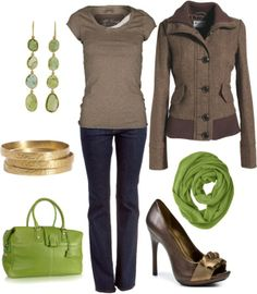 Green and brown #green