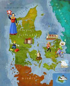 Denmark map by Adam Pękalski #map #denmark #danmark