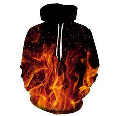 Fire Printed 3D Men Women Hoodies 6XL Sweatshirts Quality Hooded Jacket Novelty Streetwear Casual Pullover ZOOTOP BEAR