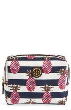 Tory Burch 'Brigitte' Nylon Cosmetics Case available at #Nordstrom