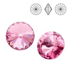 1122 Rivoli SS39 Light Rose F 2pcs  Dimensions: diameter 8,16-8,41 mm Colour: Light Rose F 1 package = 2 pieces