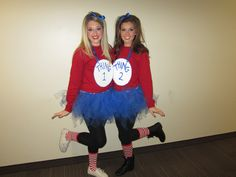 thing 1 and thing 2 outfits for girls - Google Search
