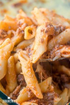 This easy baked ziti is a HUGE family favorite. We make it several times a month. Creamy, cheesy pasta topped with a beefy spaghetti sauce! Easy Baked Ziti, Baked Rigatoni, Ziti Pasta Recipe, Beef Pasta, Penne Pasta, Pasta Recipes, Dinner Recipes, Inexpensive Meals, Easy Meals