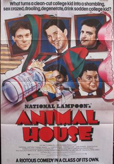 ANIMAL HOUSE Movie Poster (1978)    COMEDY Movie Posters @ FilmPosters.Com - Vintage Movie Posters and More