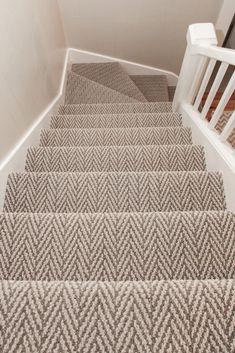 Brown and beige Pattern Carpet Staircase , – carpet stairs White Carpet, Diy Carpet, Modern Carpet, Cheap Carpet, Carpet Ideas, Carpet Decor, Flur Design, Home Design, Design Ideas