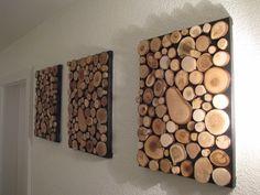 Diese 3 Bilder welche jedes eine Abmessung von 70 x 30 cm ist besticht durch seine natürlichkeit und verleiht dem Raum eine angenehme warme Atmosphäre. Die Holzscheiben sind aus reinem Schweizer...